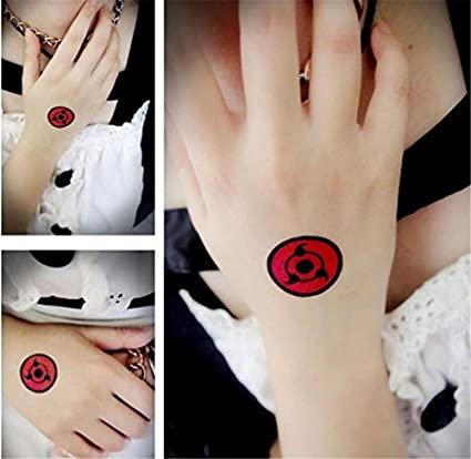 Amazon.com: 3pcs Naruto ITACHI Uchiha Sasuke Sharingan Sign ...