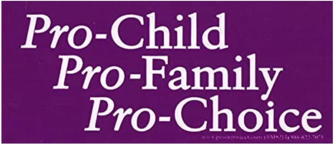 Peace Resource Project Pro Child Family Planning Pro-Choice Women Abortion Rights Feminist Small Car Bumper Sticker Laptop Decal 6-by-2.5 Inches
