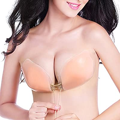 Silicone Invisible Bra Self Adhesive Strapless Reusable Push-up Bras Cup B