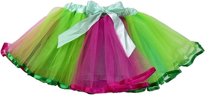 Dancina Falda Tutú de Ballet con Lazo para Niñas Verde: Amazon.es ...