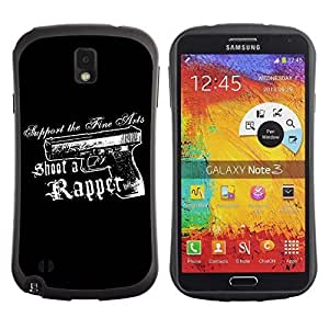 Hybrid Anti-Shock Bumper Case for Samsung Galaxy Note 3 / Rap Message