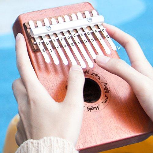 Mugig Kalimba Mbira Sanza 10 Keys Thumb Piano Pocket Size Beginners Friendly Supporting Kalimba Bag and Musical Notation - Image 5