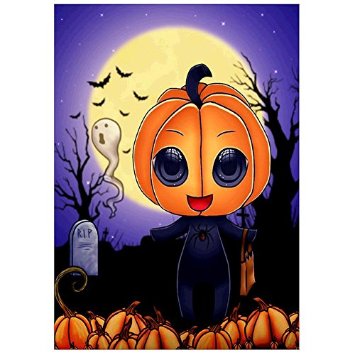 Alloet 5D Halloween Pumpkin Diamond Painting Embroidery DIY Cross Stitch Decor