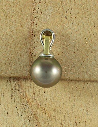 Ocean Black Pearl - Pendentif Femme - Perles de culture de Tahiti - 10mm - Argent rhodié 925 - P1P4