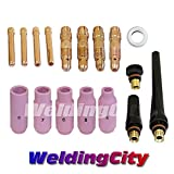 WeldingCity TIG Welding Accessory Kit Cup-Collet-Collet Body-Gasket-Back Cap 0.040''-1/16''-3/32''-1/8'' for Torch 17, 18 & 26 T5