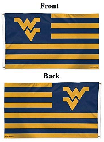 WinCraft NCAA West Virginia University Deluxe Flag, 3' x 5'