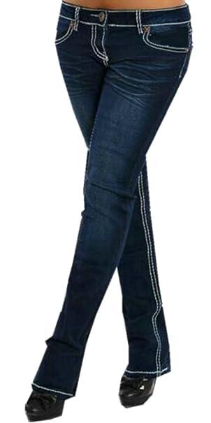 Amazon.com: yulegowinner Mujer de bajo Rise lavar pierna ...