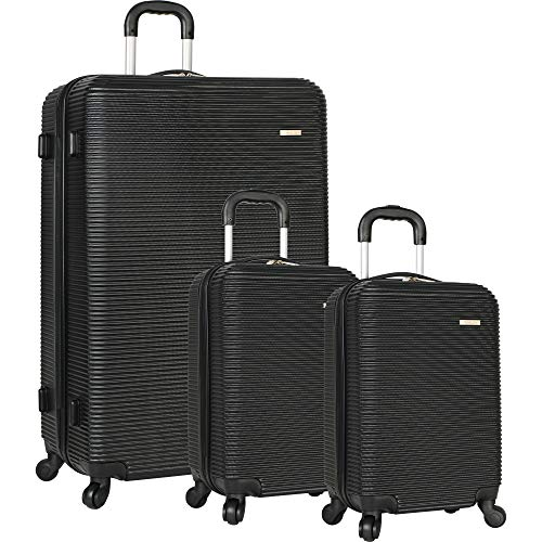 Travel Gear Hardside Spinner Luggage Set with 2 Carry Ons, Black