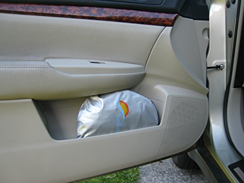 auto sunshade for windshield heat shield sun visor keeps vehicle several degrees cooler. Black Bedroom Furniture Sets. Home Design Ideas