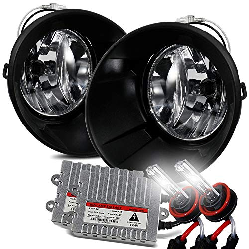 ModifyStreet For 2010-2013 Chevy Camaro Clear Lens Fog Lights Bumper Lamps Kits with 6000K HID ()