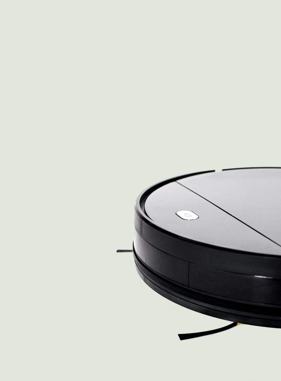 Nettoyage Robot intelligent Aspirateur Noir Aspirateur professionnel Accueil Mnando à distance sans fil intelligent, Noir KaiKai (Color : Black) Black