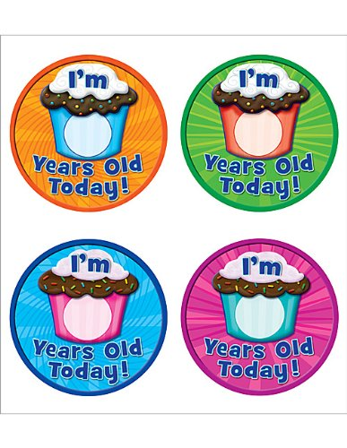 Teacher Created Resources I Am __ Years Old Today WearEm Badges