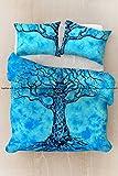 Sophia Art Exclusive Tye Dye tree Of Mandala Hippie Bedding Bohemain Cotton Mandala Duvet Cover, Boho Mandala Duvet Cover With Pilow Cover (Sky Blue)