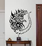 Godzilla Wall Decal Movie Monster Vinyl Sticker Bedroom Wall Art Design Housewares Kids Room Bedroom Decor Removable Wall Mural 83zzz