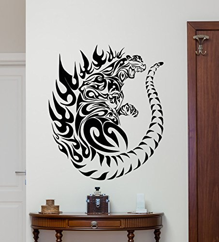 Godzilla Wall Decal Movie Monster Vinyl Sticker Bedroom Wall Art Design Housewares Kids Room Bedroom Decor Removable Wall Mural 83zzz