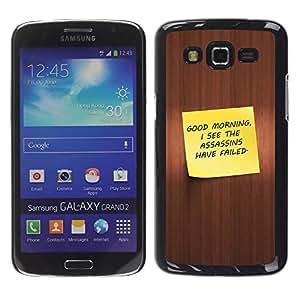 Stuss Case / Funda Carcasa protectora - Good Morning - Funny - Samsung Galaxy Grand 2