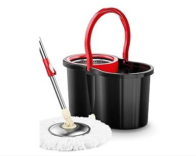 Fácil de escurrir y limpiar Turbo Juego de fregona de microfibra y cubo para mopa de