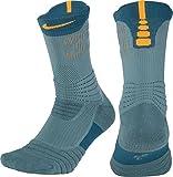 Nike KD Versatility Crew Socks (Iced Jade/Blu/Circuit Org, L)