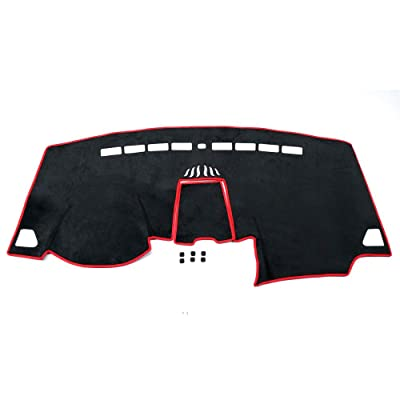 Bwen bg2919a Car Carpet Dashboard Cover,Balck with Red Sun Dash Cover Protector for Ford Edge 2015 2016 2020 2020: Automotive