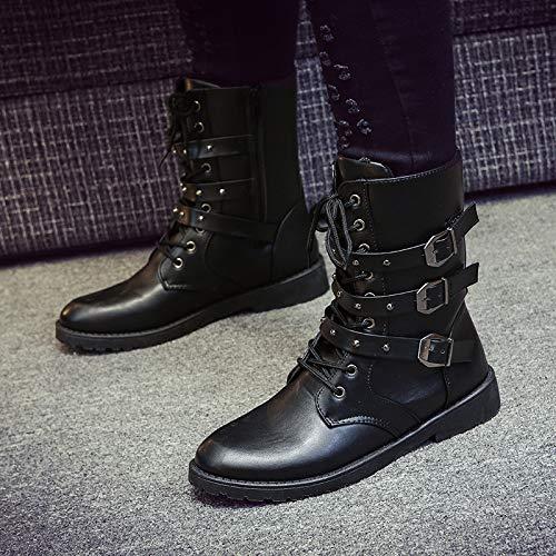 Shukun Herren Stiefel in Herbst und Winter Martin Stiefel Herren hohe Stiefel in Stiefel den Stiefeln Leder Stiefel Wilde Jugend Herren Stiefel 976d15