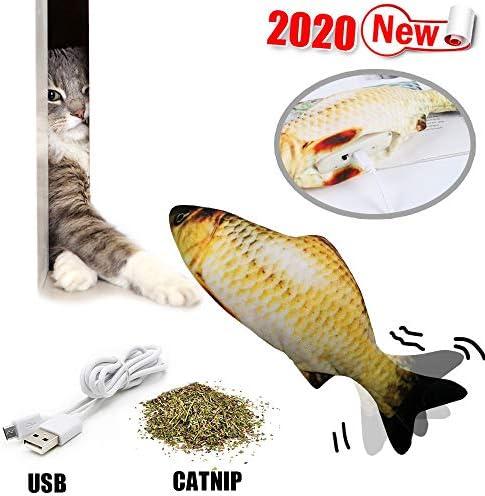 NEEDOON 猫用 USB電気魚 キャットニップおもちゃ キャットニップおもちゃ ワギングぬいぐるみインタラクティブおもちゃ 現実的なぬいぐるみシミュレーション電気おもちゃ魚ギフト (B)