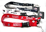 Granny's Best Deals (C) Patriots 3 Lanyards Combo (Two-Tone,White,Red Styles)-New!