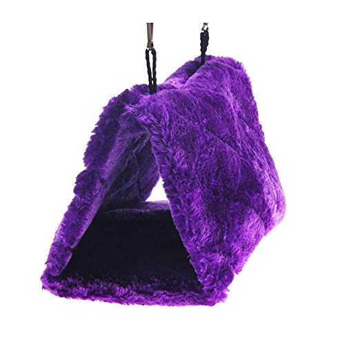 Generic Pet Bird Nest Hammock Hanging Cave Cage Plush Snuggle Happy Hut Tent Bed Small
