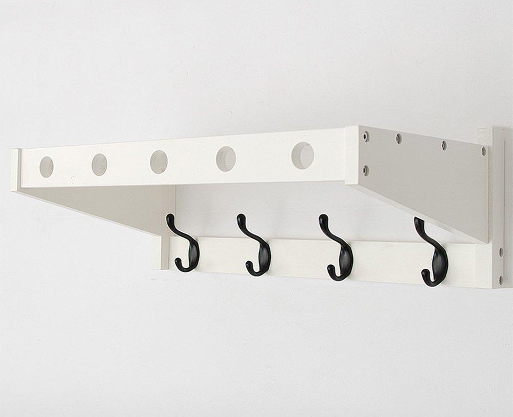 ポーチ壁コート帽子ラック、寝室の壁のドアフックラック、ウォールハンガー、フック、リビングルームハンガー ( 色 : 白 , サイズ さいず : 52.5*30*18cm ) B0798F2Q82 52.5*30*18cm|白 白 52.5*30*18cm