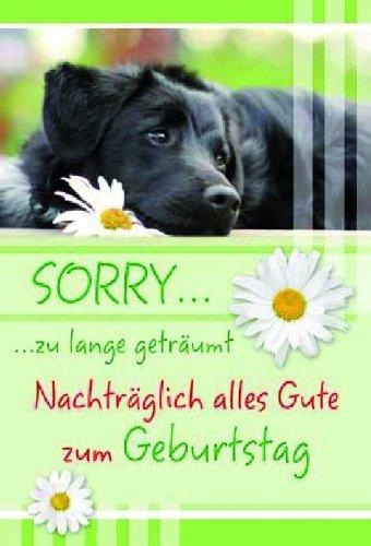 Karte Geburtstag Nachtraglich Hund Blumen Liefermenge 5 Amazon