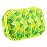 Zipit ZPP-GT Colorz Pencil Case Box, Lightweight and Durable, Green Triangles