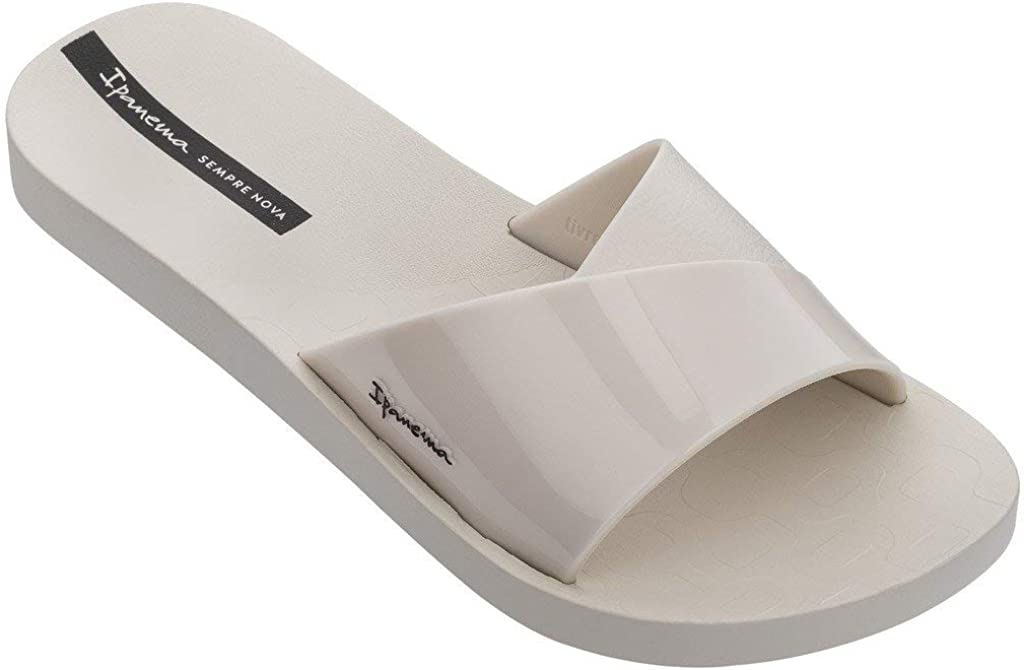 Ipanema Badeschuhe Badelatschen Damen Slipper Slide Freizeitsandalen Wellness-Badeschuhe Bade-Pantolette Badeschlappen Kunststoff-Sandale breiter Riemen Fresh FEM 26366
