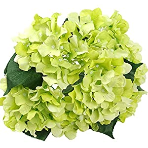 "Mikash s 18"" Silk 7 Big Head Hydrangea Bouquet for Wedding, Room, Home, Hotel, Party Tion 