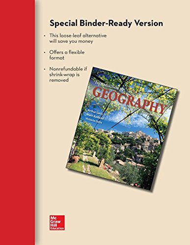 Loose Leaf for Introduction to Geography with Connect Access Card