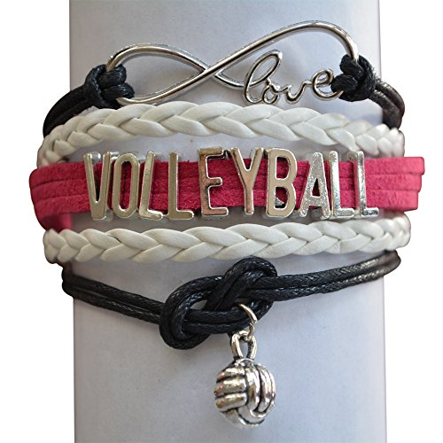 (Infinity Collection Volleyball Bracelet- Volleyball Jewelry - Perfect Volleyball Gifts for Players)