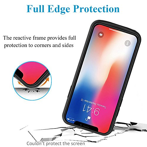 iPhone X Battery Case 5200mAh, Foxcesd 5.8 pulgadas Ultra Slim Rechargeable Battery Charging Case Protector portátil Backup Case Carcasa para Apple iPhone X / iPhone 10 - Negro rosso