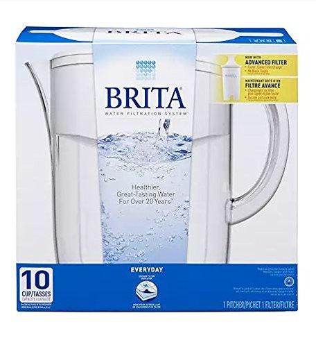 Brita Everyday Water Filter Pitcher 10 Cup 1.0 - Colored Brita Water Pitcher