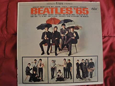 BEATLES '65 Capitol Records ST-2228 Stereo 'Recorded in England' Vinyl Lp Record EX (The Beatles Vinyl Stereo)