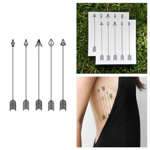 Tattify Assorted Arrow Temporary Tattoo - Dart Set (Set of 2) - Other Styles Available - Fashionable Temporary Tattoos