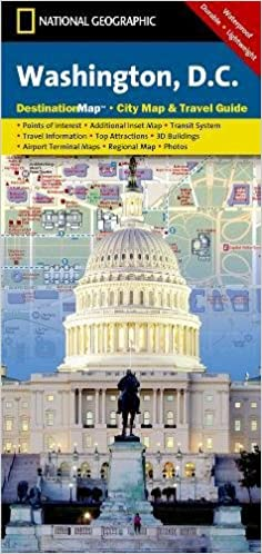 Washington DC National Geographic Destination City Map - Ographic map us
