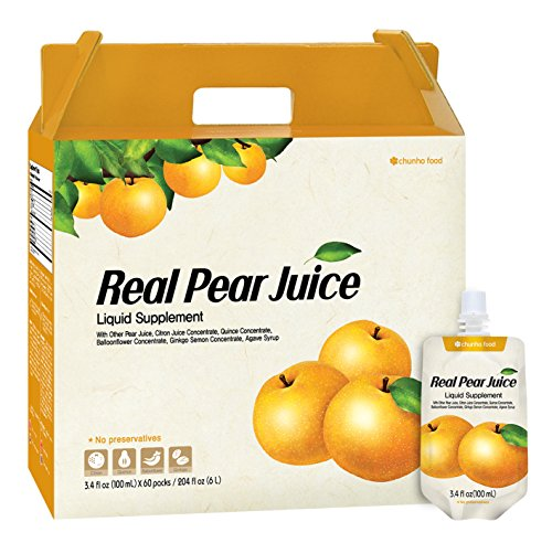 Chunho Food Real Pear Juice Liquid Supplement. Protects, Helps Against Coughing, Asthma, and Digestion. Relieve Thirst and Hangover. No Preservatives and Artificial Additives. … by Chunho Food