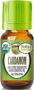 Organic Cardamom Essential Oil (100% Pure - USDA Certified Organic) Best Therapeutic Grade Essential Oil - 10ml