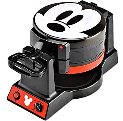 51a89c8cb Amazon.com: Mickey Mouse Waffle Maker 90th Anniversary Double Flip: Kitchen  & Dining