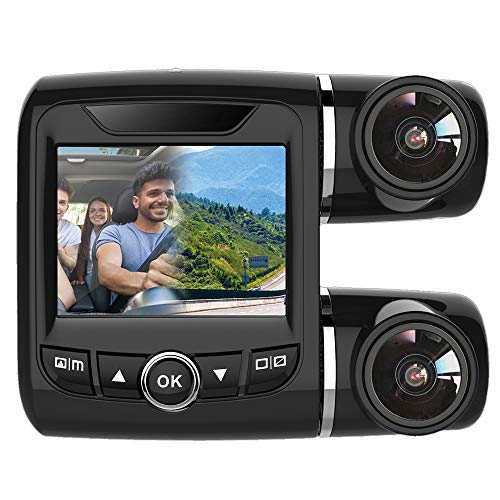Sonmer V68 2.0'' 1080P Car Dash Cam FHD Dual Lens Camera,150° Wide Angle, With G-sensor Motion Detection Night Vision Loop Record WDR Mic Audio Recording Power-off File Recovery Function