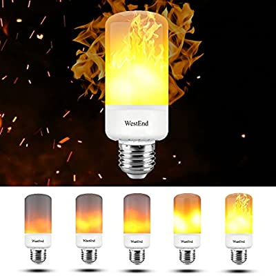 LED Flame Effect Light Bulb, 1300k True Fire Color, Simulated Safe Flameless Flickering Fire Lamp, Standard E26/E27 Base, Great For Home Decoration, Atmosphere, Mood Lighting, Christmas Gifts, Holiday