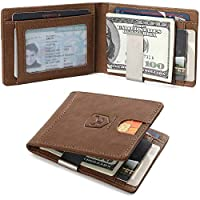 Cow Staunch Mens Genuine Leather Wallets Slim Front Pocket Deals