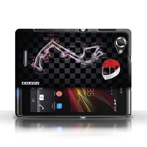 Etui / Coque pour Sony Xperia L/C2105 / Monaco/Monte Carlo conception / Collection de 2014 F1 Piste