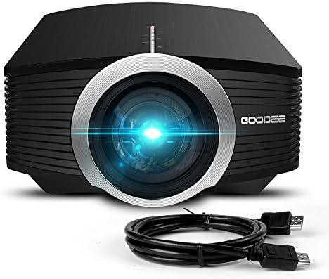 Proyector, GooDee Mini portátil proyector 1800 Luminoso eficiencia ...