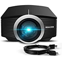 Projector, GooDee Mini Portable Projector Home Cinema Theater Movie Video Projector Support Multimedia HDMI USB for Home Entertainment Games
