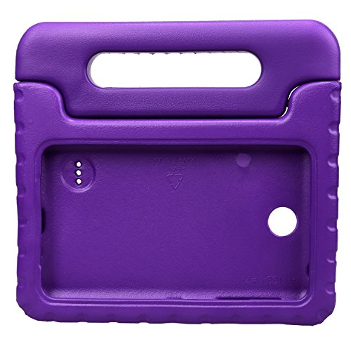NEWSTYLE Shockproof Light Weight Kids Case with Protection Cover Handle and Stand for Samsung Galaxy Tab 4 7-inch, SM-T230, SM-T231, SM-T235 – Purple Not Fit Other Tablet