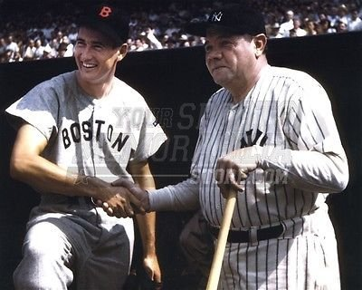 - Ted Williams Babe Ruth Red Sox Yankees dugout 8x10 11x14 16x20 photo 275 - Size 16x20